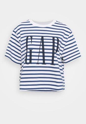 BOXY TEE - T-shirts med print - navy stripe
