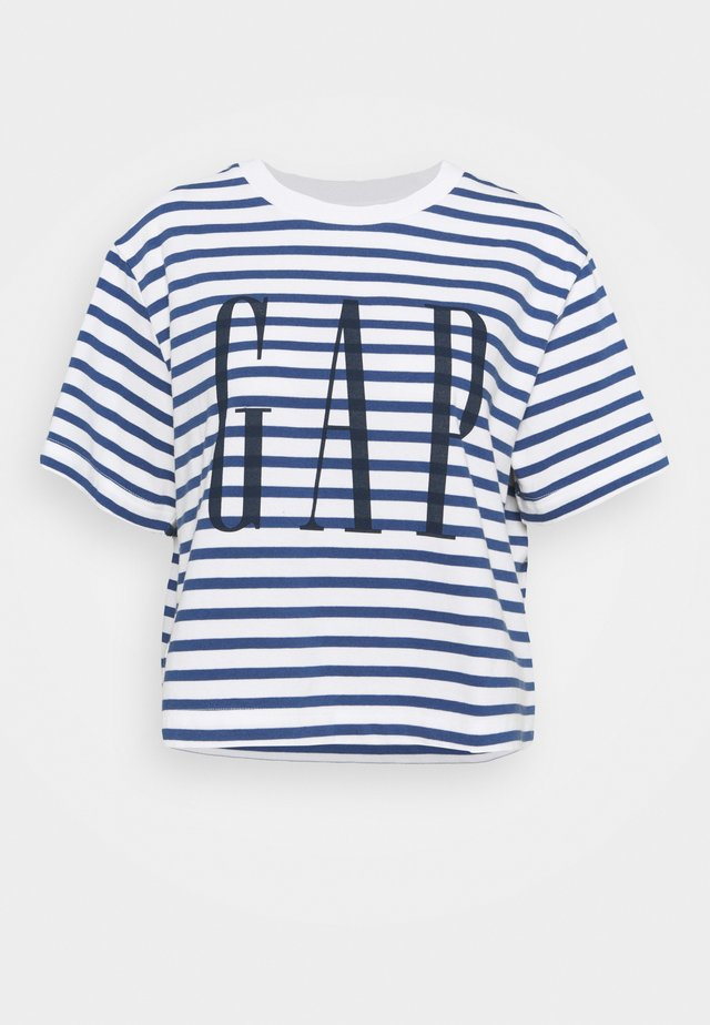 BOXY TEE - Print T-shirt - navy stripe