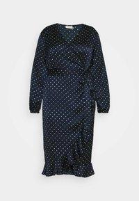 Kaffe Curve - KCHALE WRAP DRESS - Vapaa-ajan mekko - midnight marine - 4