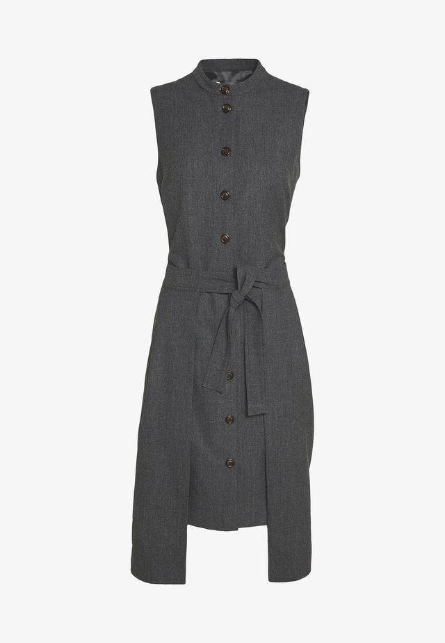Košilové šaty - charcoal black