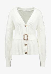 Missguided Tall - BELTED BUCKLE BALLOON SLEEVE CARDIGAN - Cardigan - cream - 5
