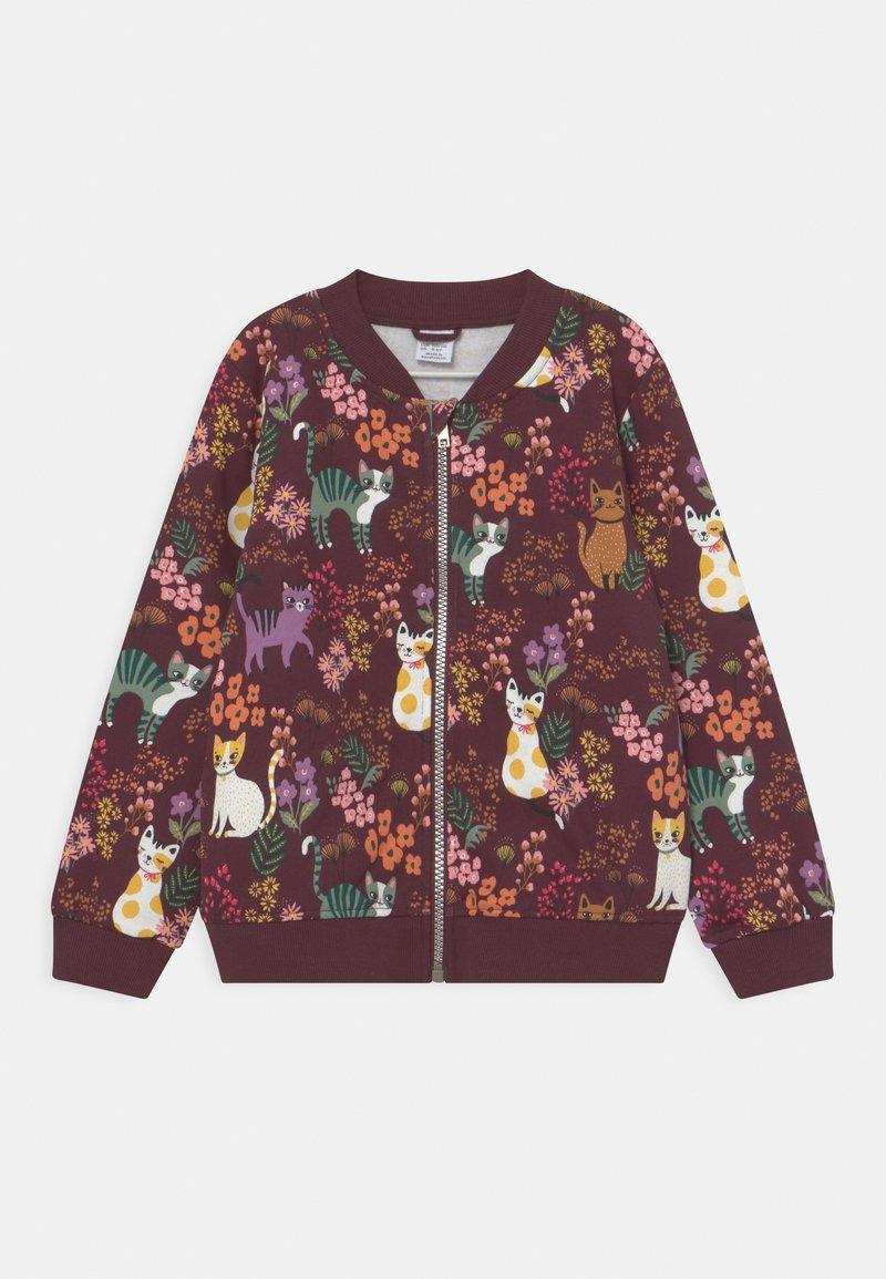 Lindex - MINI CATS - Zip-up sweatshirt - dark lilac