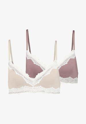 2 PACK - Triangle bra - nude/pink