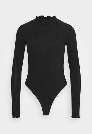 TURTLE NECK BODY - Long sleeved top - black