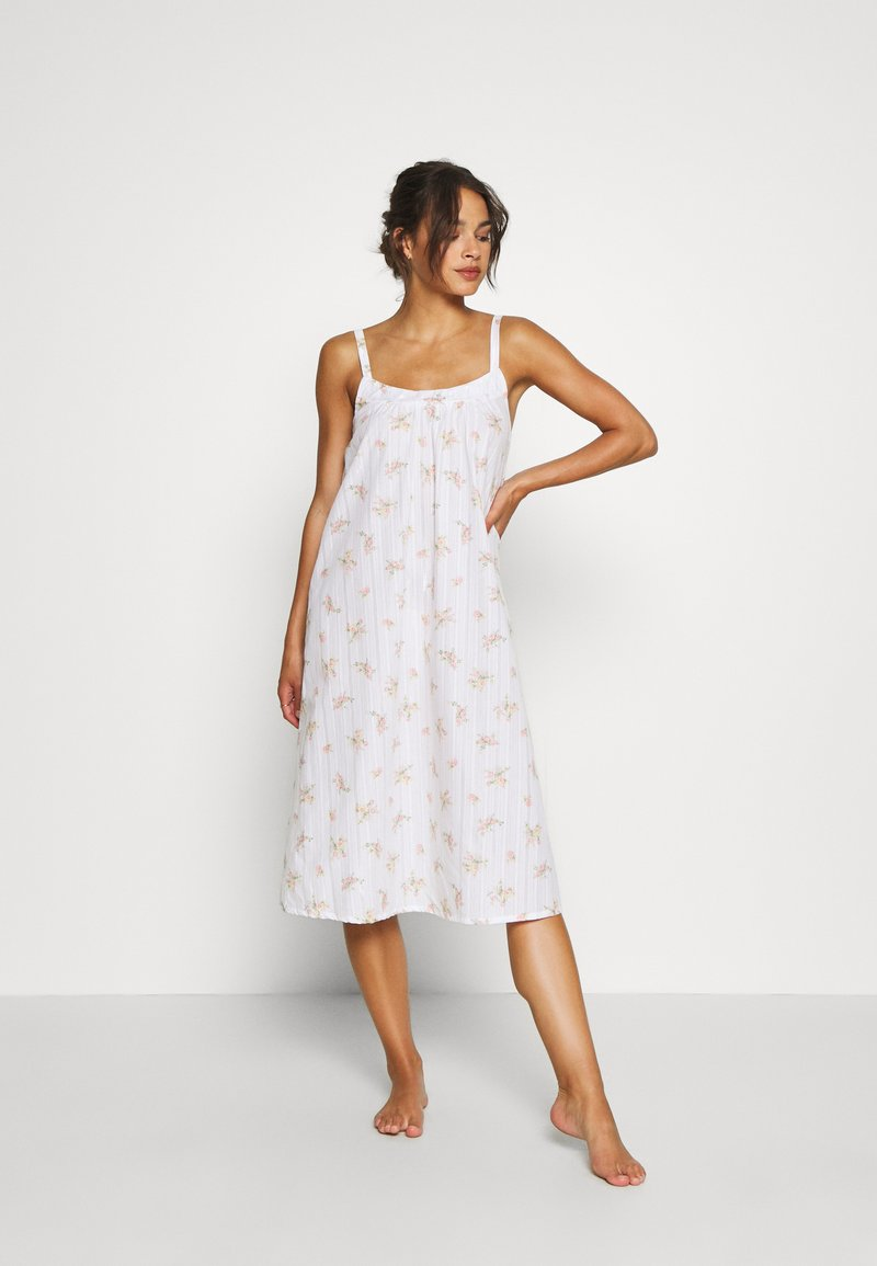 Marks & Spencer London - NIGHTDRESS DITSY - Nattskjorte - white