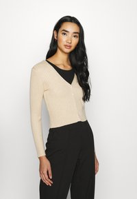Monki - SILJA CARDIGAN - Cardigan - beige dusty light - 0