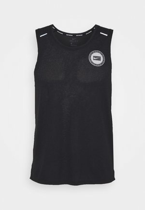 MILER TANK - Sports shirt - black/sail/silver