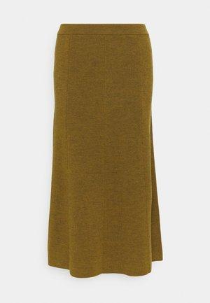 SIMONE - Áčková sukně - golden brown