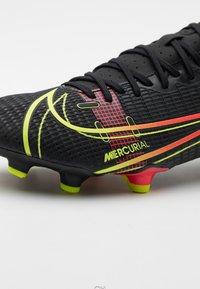 Nike Performance - MERCURIAL VAPOR 14 ACADEMY FG/MG - Moulded stud football boots - black/cyber/off noir - 5