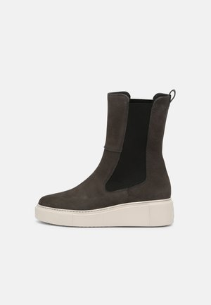 Platform ankle boots - iron
