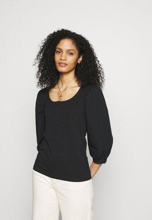 BLOUSE - Maglietta a manica lunga - black