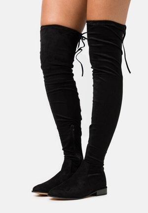 FLAT BOOTS - Høye støvler - black