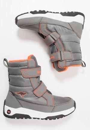 K-MAJOR V RTX - Vysoká obuv - steel grey/neon orange