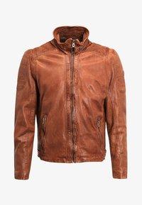 RAMOS - Leather jacket - cognac