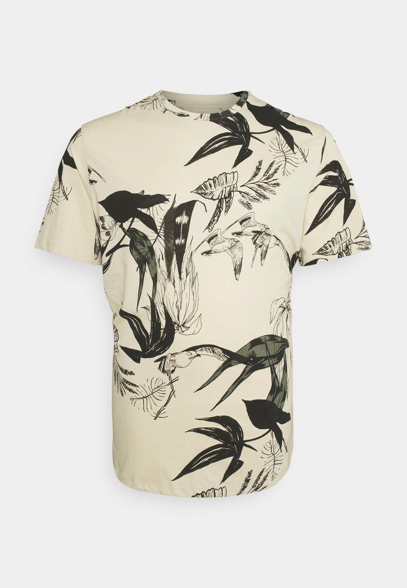 Jack & Jones - JORMONET TEE CREW NECK - Print T-shirt - oatmeal