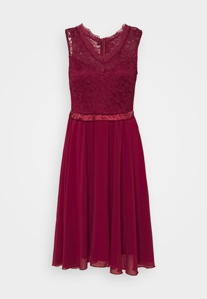 SKYLAR DRESS - Abito da sera - wine