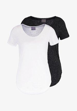 VMLUA 2 PACK - Basic T-shirt - black/bright white