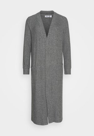 NMINDIGO LONG  - Cardigan - dark grey melange