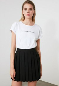 Trendyol - A-line skirt - black - 1