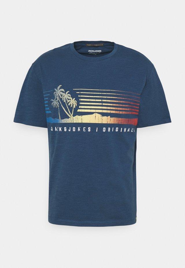 JORLAGUNA TEE CREW NECK - Print T-shirt - ensign blue