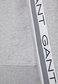 GANT - STRIPES FULL ZIP HOODIE - Zip-up hoodie - grey melange - 6