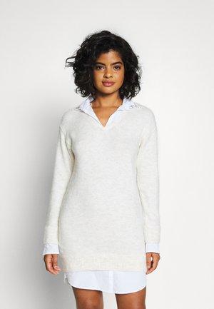 Strikket kjole - cream/beige