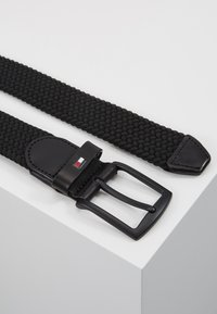 Tommy Hilfiger - DENTON ELASTIC - Braided belt - black - 2