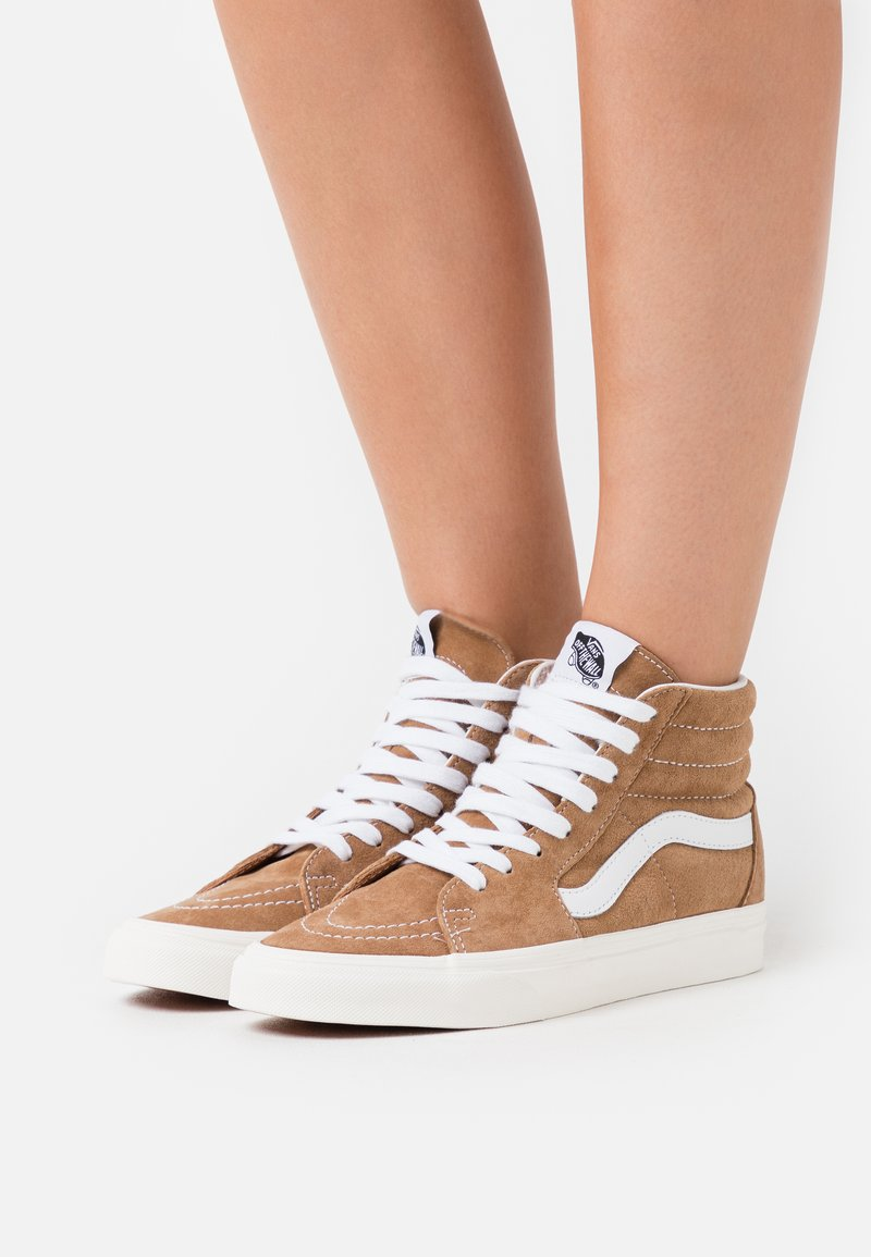Vans - SK8-HI - Skate shoes - brown sugar/snow white