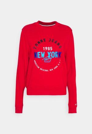 MODERN LOGO CREW - Sweatshirt - deep crimson