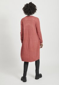 Vila - VIRIL LONG CARDIGAN  - Cardigan - dusty cedar - 1