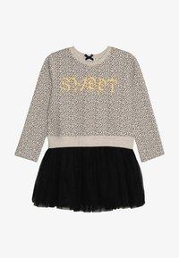 Lemon Beret - SMALL GIRLS DRESS - Freizeitkleid - beige melange - 3