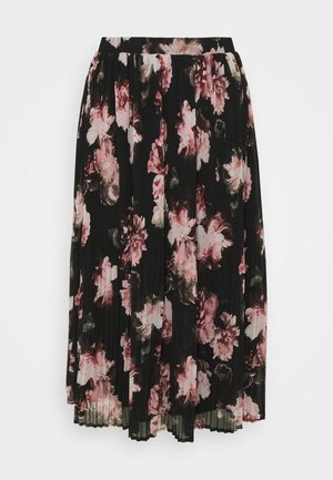 VITAFFY  - Pleated skirt - black/flower