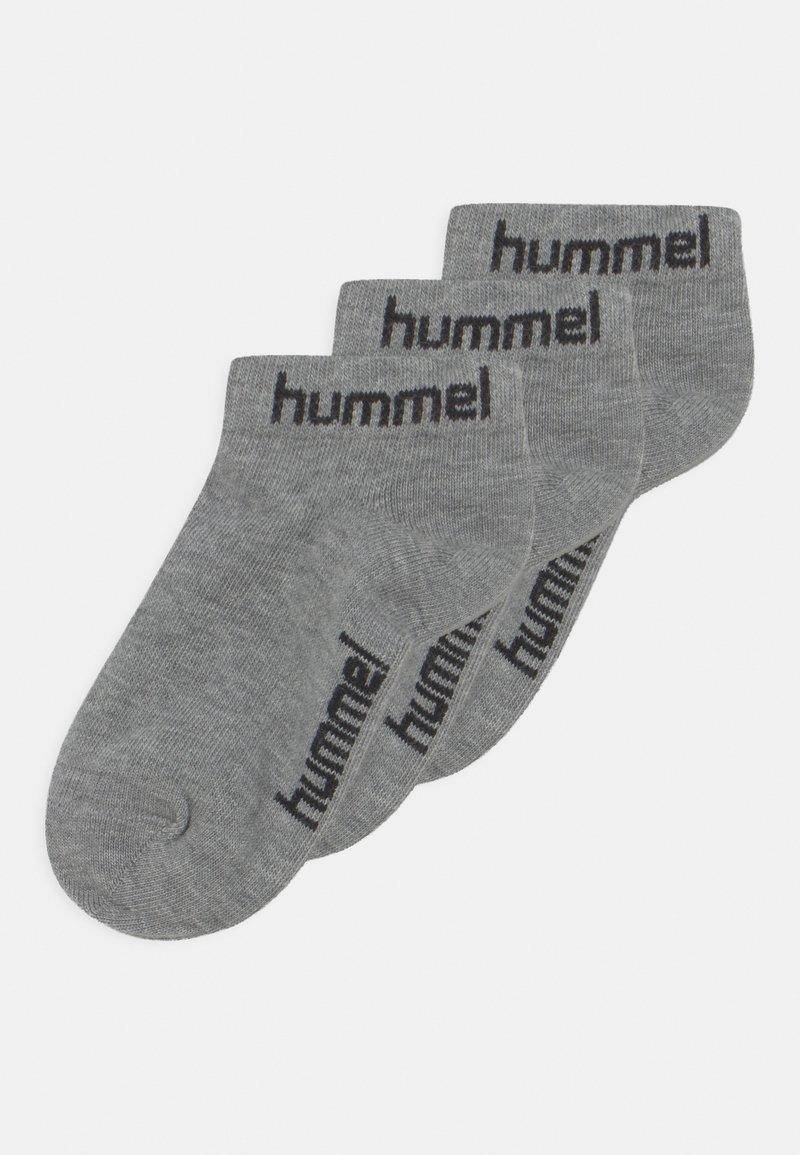 Hummel - TORNO 3 PACK UNISEX - Trainer socks - grey melange
