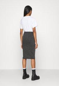 Vila - VIMANY  - Pencil skirt - dark grey melange - 3