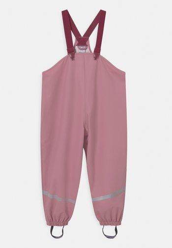 MINI RAIN TROUSERS UNISEX - Rain trousers - dark dusty pink