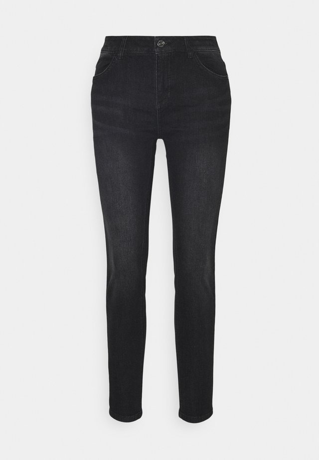 Slim fit jeans - black stre