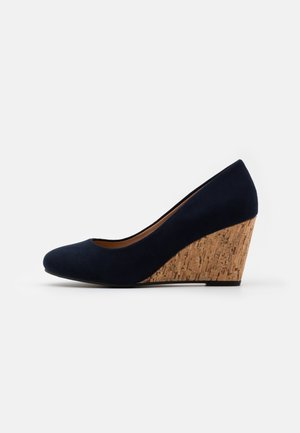 WIDE FIT WATERLILY NEW - Zeppe - navy