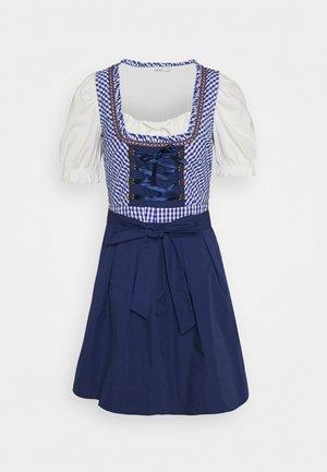 ONLLOLA LACE UP DIRNDL DRESS SET - Dirndl - cloud dancer/blue