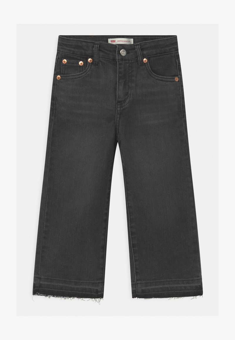 Levi's® - CROPPED WIDE LEG - Jeans baggy - black