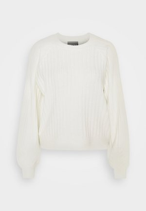 PCPOLLY O-NECK  - Strikpullover /Striktrøjer - bright white