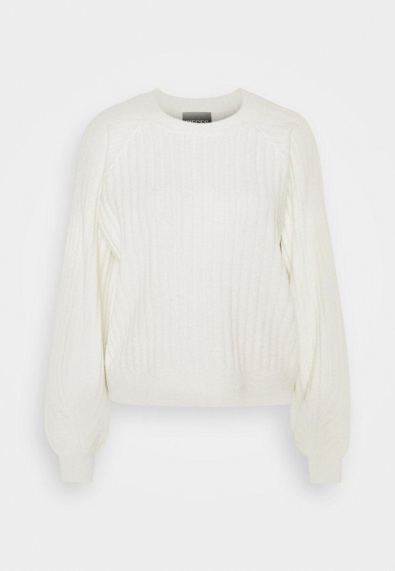 Pieces - PCPOLLY O-NECK  - Jumper - bright white