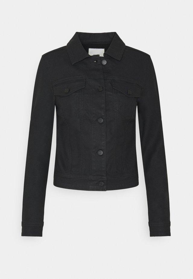 OBJWIN BELLE JACKET - Kurtka jeansowa - black