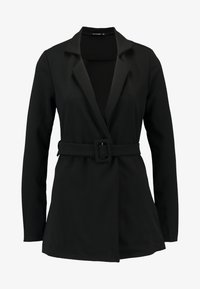 Missguided - SELF FABRIC BELTED - Blazer - black - 4