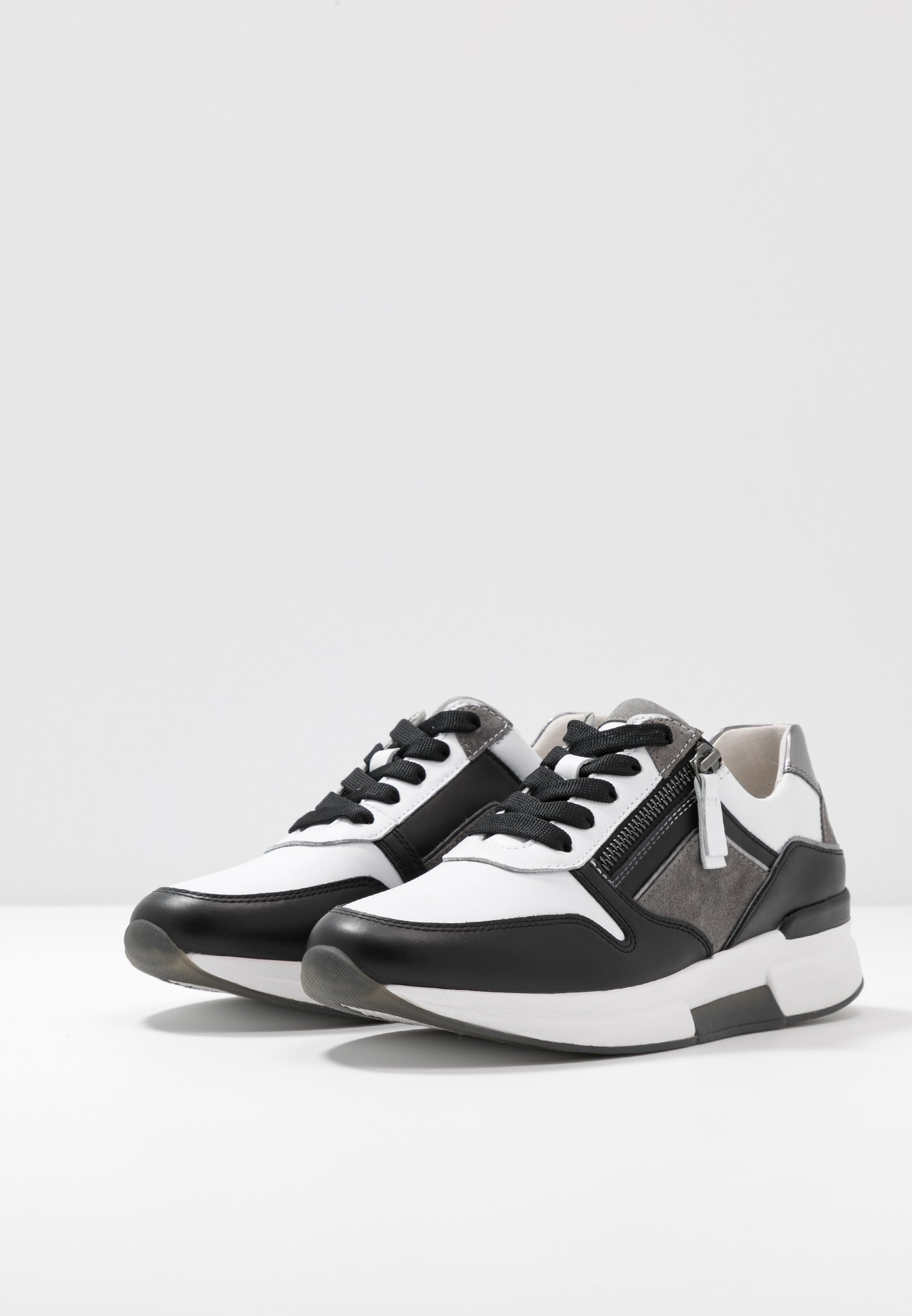 Niesamowita cena Zniżka Gabor Comfort Sneakersy niskie - weiss/stone/schwarz   Obuwie damskie 2020 YfEnq
