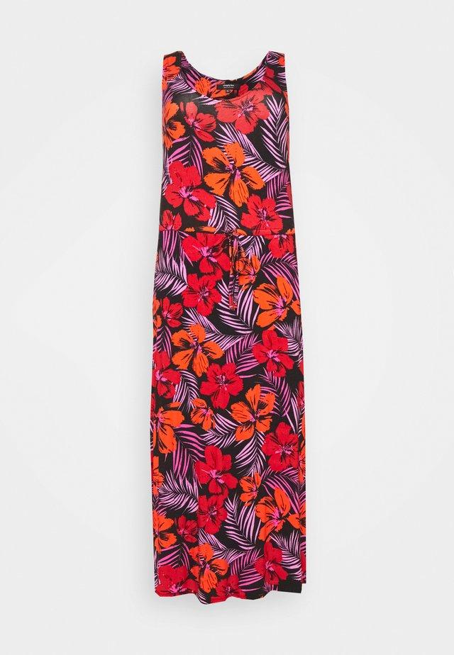 VEST DRESS - Vestito lungo - red