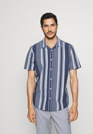 Shirt - navy varagated stripe