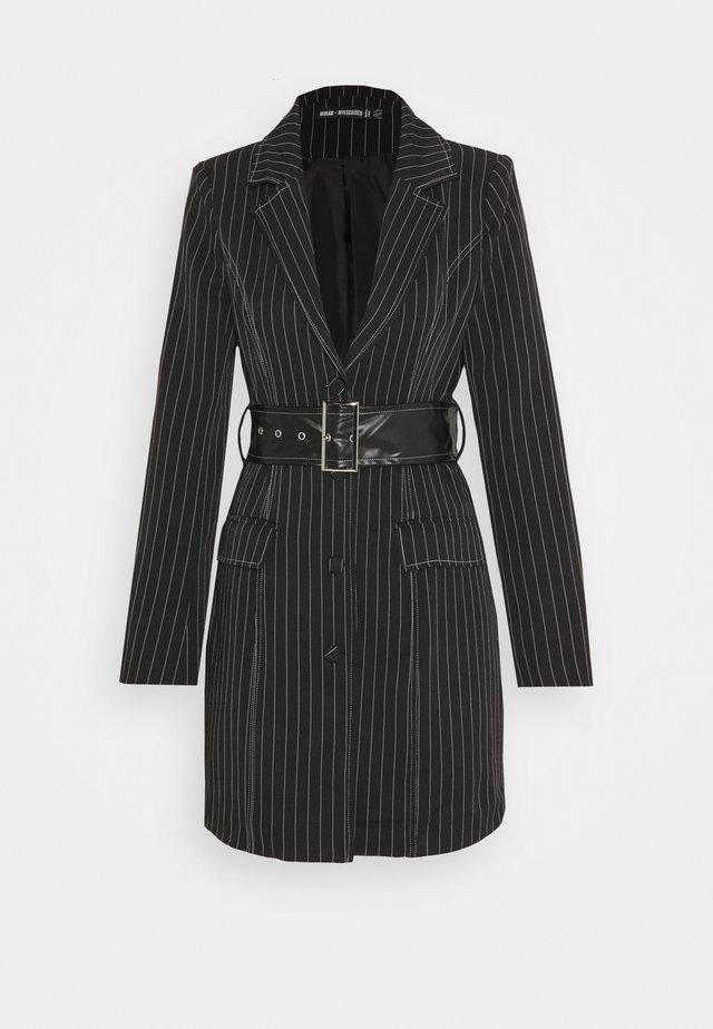 PINSTRIPE DRESS - Korte jurk - black