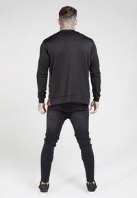 SIKSILK - SIDE ZIP CREW - Long sleeved top - black - 2