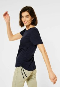Cecil - Basic T-shirt - blau - 1