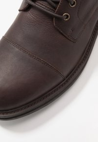 Walk London - WOLF TOE CAP - Lace-up ankle boots - thunder brown - 5
